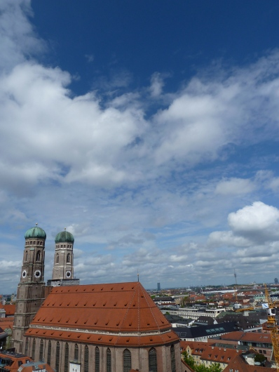 Frauenkirche from the tower at St. Peter's.