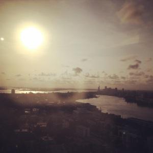 Sunset over Lagos Island.