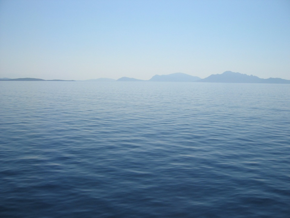 Plying the Ionian Sea while traveling from Ancona (or was it Brindisi?) to Patras, Greece (2004).