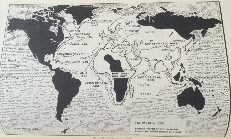 The World in 1500. Adda Bozeman, Politics and Culture in International History, pg. 430.